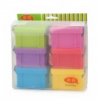 Creative Plastic Mini Desk Storage Cases w/ Lock Catch - Multicolored (6 PCS)