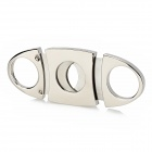 Stainless Steel Portable Pocket Cigar Cutter Blade Knife - Silver