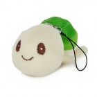 Cute Turtle Style Short Plush + PP Cotton Decorative Key Chain - Beige + Green