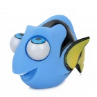 Cute Fish Style Plastic Rolling Eyes Pop-Out Stress Reliever Toy - Black + White + Blue