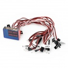 12-LED Flashing Light Kit for 1/10 R/C Car - Red + Black + White