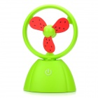Mini Rechargeable 3-Blade USB Cooling Fan - Green + Red + Black