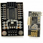 STC15L204 Wireless Development Board + NRF24L01 Wireless Serial Module - Black
