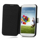 Stylish Protective PU Leather Case for Samsung Galaxy S4 i9500 - Grey