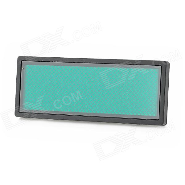 B1236TSPG 432-LED Green Light Advertising Display Board - Black + Jade Green
