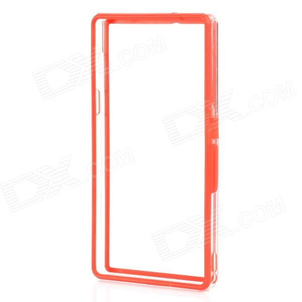 все цены на Protective Plastic Bumper Frame for Sony L36h / Xperia Z - Red + Transparent онлайн