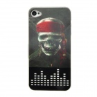 3D Skull Pirate Pattern Protective Plastic Back Case for iPhone 4 / 4S - Multicolored