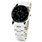 Cool Stainless Steel Band Men's Quartz Wrist Watch - Silver (1 x 377)