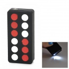 Chinese Dominoes 9 Style Windproof Red Flame Butane Jet Lighter w/ Light - Red + White + Black