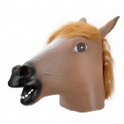 A-002 Big Horse Head Style Latex Face Mask for Party - Light Brown