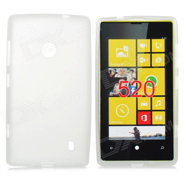 Protective TPU Soft Back Case for Nokia Lumia 520 - Translucent White