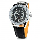 NBW0FA6517 Stainless Steel Mechanical Self-winding Analog Wrist Watch for Men - Black + Silver