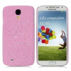 3D Hollow-Out Rose Style Protective PC Back Case for Samsung Galaxy S4 i9500 - Pink