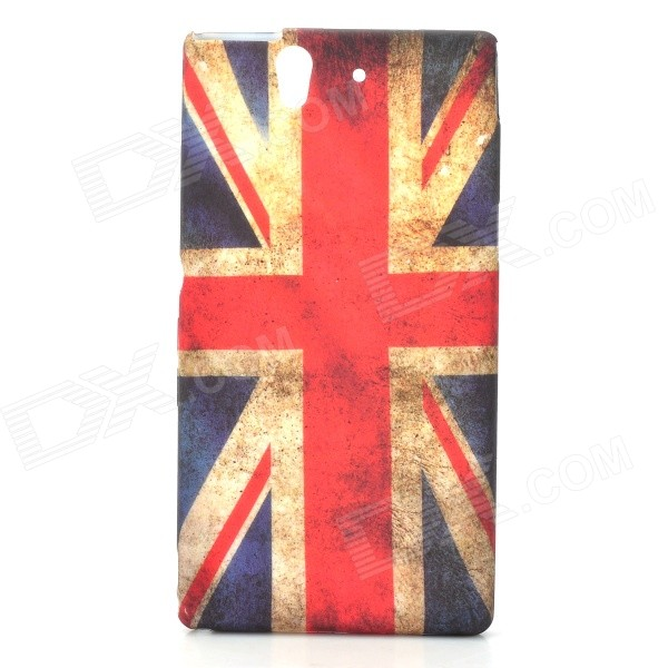 Retro UK National Flag Style Protective PVC Back Case for Sony Xperia Z L36h - Blue + Red стоимость