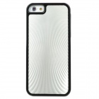 Metal Lines Pattern Stylish ABS Back Case for iPhone 5 - Black + Silver