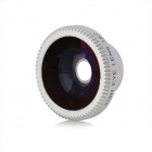 Lesung Universal 180 Degrees Fish Eye Lens w/ Magnet Mount for Cell Phone - Silver + Black