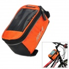 JOYTU 0201352001 Waterproof Bike / Bicycle Top Tube Storage Bag - Black + Orange