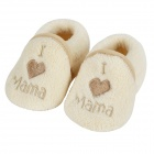 98250 Cute Soft Cotton Shoes w/ Anti-slip Sole for Baby - White + Light brown (1 Pair / Size 16~17)