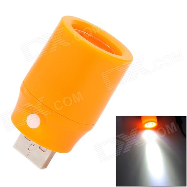 1W 78lm 7000K White Light USB LED Lamp w/ Switch - Orange