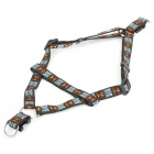 Adjustable Reflective Multi-Colored Nylon Strap Pet Dog Harness Leash - Multicolored