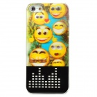 3D Smile Face Pattern LED Flash Plastic Back Case for Iphone 5 - Multicolored