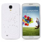 3D Hollow-Out Rose Style Protective PC Back Case for Samsung Galaxy S4 i9500 - White