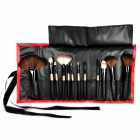 Coolflower Professional Cosmetic Makeup Brushes Set  - Red (12 PCS)