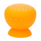 TX037 Mini Silicone Bluetooth Speaker w/ Suction Cup for Iphone / Ipad - Orange