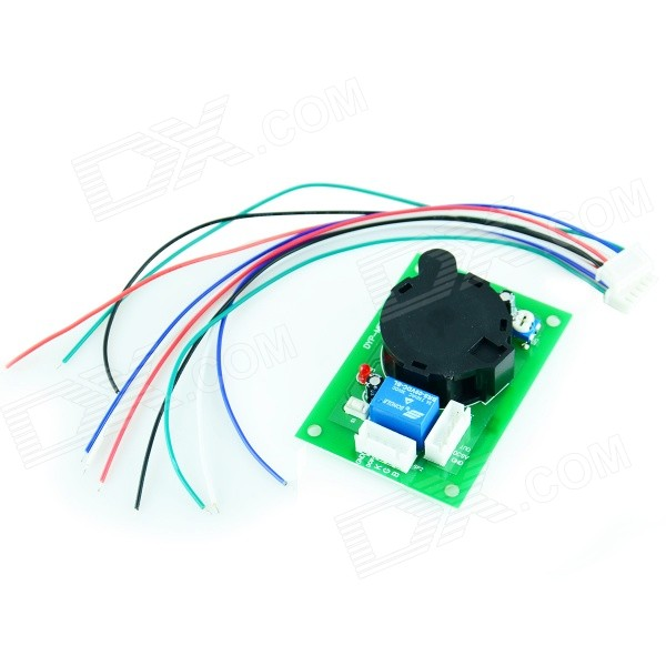 Smoke Sensor Module w/ Relay Output - Green + Black 2pcs cf18 kt led flasher 8 pin adjustable relay module fix auto car signal error flashing blinker 81980 50030 06650 4650 150w