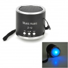 Z-12 Portable Mini Music Speaker w/ FM / TF Slot - Black + Silver