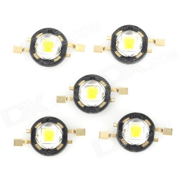 JR-(1-2)W-W-ssc 2W 100lm 6500K White Light LED - Black (5 PCS)