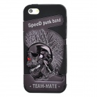 Speed Punk Band Pattern Detachable Silicone + Plastic Back Case for Iphone 5 - Black