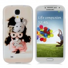 Cute MONCHHICHI Style Protective TPU Back Case for Samsung Galaxy S4 i9500 - Beige + Pink + Black