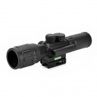 JGBG 3.5~10X 40AO 5-Mode Red / Green Light Laser Mil-Dot Gun Scope Sight - Black