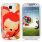 Cute Cartoon Fox Ali Style Protective TPU Back Case for Samsung Galaxy S4 i9500 - Red + White