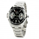 NBW0ME7014 Stainless Steel Mechanical Self-Winding Analog Wrist Watch for Men - Black + Silver