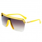 LANGTEMENG J58140C1-195-468 Fashion Aviator Style Rimless Frame UV400 Protection Sunglasses - Yellow