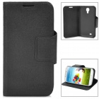 SUYOU Protective PU Leather Flip-Open Case for Samsung Galaxy S4 i9500 - Black