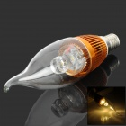 KD-LZD-001 Candle Style E14 3W 80lm 3500K LED Warm White Light Lamp - Golden (85~260V)