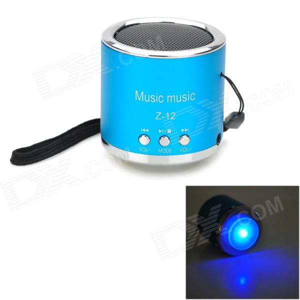 Z-12 Portable Mini Music Speaker w/ FM / TF Slot - Blue + Silver