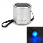 Z-12 Portable Mini Music Speaker w/ FM / TF Slot - Silver