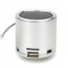 Z-12 Portabel Mini Music Speaker w / FM / TF Slot-silver