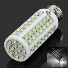 E27 6W 700lm 6000K 96-SMD 3528 LED White Light Lamp - White + Light Green + Yellow (85~300V)