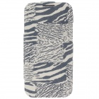 iTOP Zebra Style Protective PU Leather Case w/ Screen Protector for Samsung S4 i9500