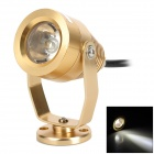 UItaFire 12V 180LM 6000K 1 x 3W White Light Aluminum Alloy Spotlight Lamp - Champagne