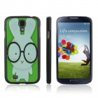 ENKAY Little Rabbit Pattern Protective Plastic Case for Samsung S4 / i9500 - Black + Green + White
