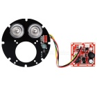 3W 4~6mm Lens 2 Infrared LED Lights Array Surveillance Camera - Black + Red
