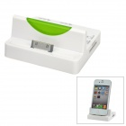 Combo Charging Dock + SD / MMC / Micro SD / M2 / MS Card Reader + 2-Port Hub - White + Green
