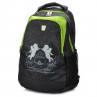 Oiwas OCB4101 Gemini Theme Pattern Leisure Backpack - Green + Black