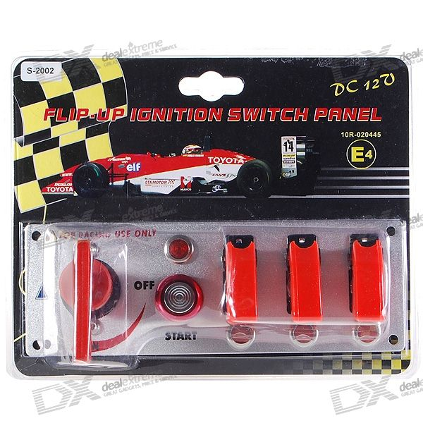 Flip-up de encendido Start Interruptor de Panel y Accesorios para Racing Sport (DC 12V)